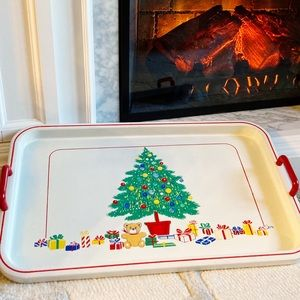 Vintage Christmas Holiday Tray 🎄